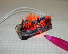Miniature Logs with Flames for Fireplace #1 for DOLLHOUSE 12volt 1/12 Scale