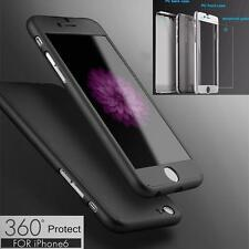 Shockproof Hybrid 360° Hard Case Cover For iPhones 5,6,7 plus + Tempered Glass