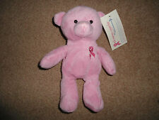 BNWT CANCER RESEARCH PINK BEANIE BEAR SOFT TOY