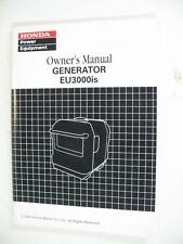 Various HONDA Owner's Manuals Generator EU3000is EU2600i ES6500 EU1001i EU2000i