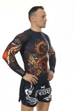Dragon Lagon Warrior Long Sleeve Rashguard for BJJ NoGi MMA Training.