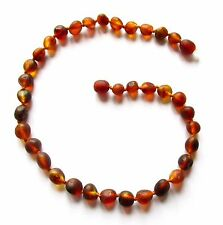 Genuine Baltic amber necklace, child children amber baby-teen size, unpolished