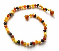 Genuine Baltic amber necklace child children amber baby to teen size, unpolished