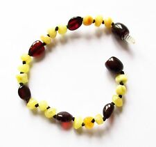 Natural Baltic amber bracelet anklet child children baby teen sizes mixed beads