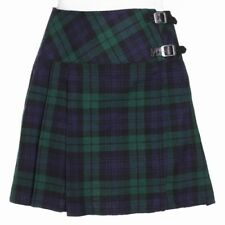 New Ladies Black Watch Tartan Scottish Mini Billie Kilt Mod Skirt Sizes 6 -22UK