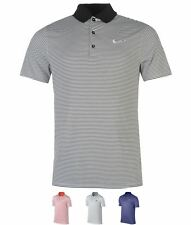 SPORTIVO Nike Victory Mini Stripe Polo Shirt Mens Max Orange