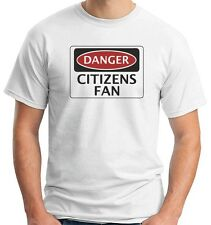 T-shirt WC0301 DANGER MANCHESTER CITY CITIZENS FAN FOOTBALL FUNNY FAKE SAFETY SI