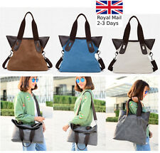 Large Fashion Canvas Ladies Women Tote Shoulder Handbag Messenger Crossbody Bag