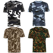 Mens Camouflage T Shirt, Military, Combat, Army, Camo, S-5XL, Premium Quality