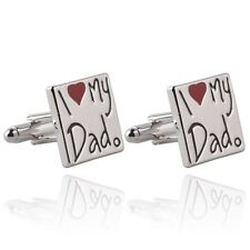 I LOVE MY DAD CUFFLINKS - NOVELTY MENS QUALITY GIFT - FATHERS HUSBAND BIRTHDAY