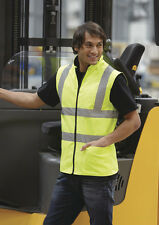 Hi-Vis Reversible Fleece Vest Mens Workwear All Sizes and Colours
