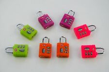 TSA Approved Resettable Luggage Locks Assorted Colors (8 pack)