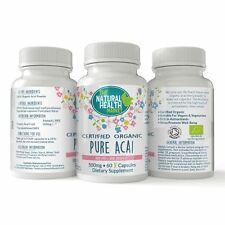 Pure Acai Berry Capsules • 100% Whole Acai Berry Powder • Weight Loss • Cleanse