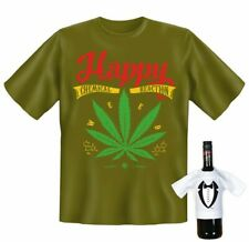T-Shirt - Weed - Happy Chemical Reaction - lustiges Fun Geschenk Set Kiffer