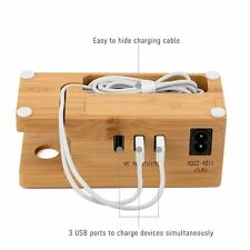 2 in 1 Wooden Charging Stand Dock Station For Apple iWatch iPhone 7/7 Plus 6 Plu