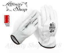 4x Force360 Certified Full Leather Rigger Gloves Cowhide Riggers Work Glove