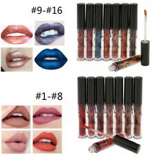 8pcs Womens Matte/Metallic Lip Gloss Waterproof Lip Liner Lipstick Cosmetics