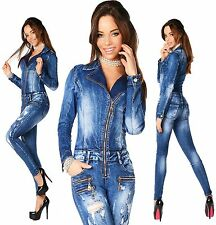 Sexy New Women's Denim Jeans Wash Playsuit Jumpsuit Overall Skinny Slim D 677