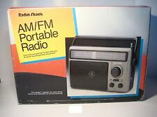 NIB 1993 RadioShack Long-Range DX AM FM-AFC Portable/Table Radio Catalog #12-639