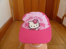 MARKS AND SPENCER PINK HELLO KITTY LONDON SUMMER SUN HAT CAP 6 10 YEARS BNWT