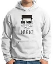 Felpa Hoodie CIT0083 Forrest Gump Life Life is like a box of chocolates