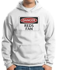 Felpa Hoodie WC0307 DANGER REDS FAN FOOTBALL FUNNY FAKE SAFETY SIGN
