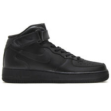 Nike Wmns Air Force 1 Mid 07 Le 366731-001 Donna Scarpe Sneaker High Pelle Nero
