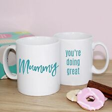 """1st Mother's day gift for new Mum Mug """"Mummy you're doing great"""" - personalised"""