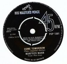 """Manfred Mann-Come Tomorrow / What Did I Do Wrong ? 7"""" 45-His Master's Voice, POP"""