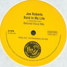 "Joe Roberts-Back In My Life (Promo) 12""-FFRR, FXRDJ 230, 1994, PROMO BELOVED Mix"