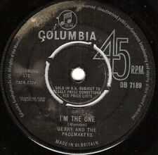 """Gerry And The Pacemakers-I'm The One 7"""" 45-EMI Columbia, DB 7189, 1964, Plain Sl"""