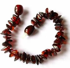 Natural Baltic amber bracelet anklet, children amber baby to teen sizes, cherry