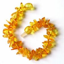 Natural Baltic amber bracelet anklet, children amber baby to teen sizes, honey