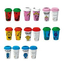 Little Miss Mr Men Travel Mug Mr Perfect Mr Strong Mr Grumpy Little Miss Sunshin