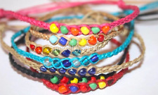 NEW HANDMADE COLOUR BEADS SURFER FRIENDSHIP BRACELET/ANKLET UNISEX MIXED COLOURS