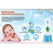 Baby Adult Safety Digital Body Forehead Ear Infrared Thermometer 8 in 1/4 in 1