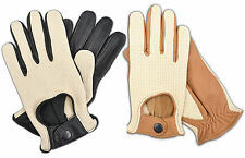 MEN'S NEW STYLE FASHION DRIVING GLOVES GENUINE LEATHER CHAUFFEUR MOTORBIKE CAR