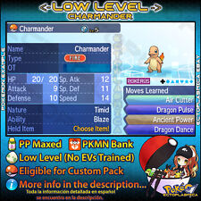 Timid Charmander 6IV ☀️ Shiny or not 🌙 Low Level Kanto Pokemon Sun Moon Ultra