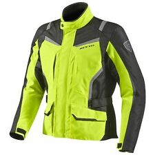 Rev'it REVIT Voltiac HV Nero Giallo Fluorescente Giacca Da Moto