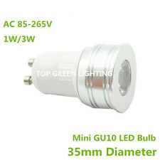 2x Mini 35mm LED Spot Light Bulb GU10 1W 3W Small LED GU10 Bulb Lamp 110V 220V