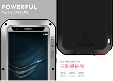 NEW LOVE MEI Shock/Water Proof Alu Metal Glass Case Cover For HUAWEI P9