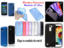 Funda carcasa modelo s line varios colores compatible para Alcatel Pixi Idol Pop
