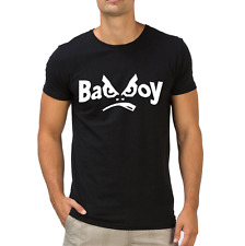 Fanideaz Men's Round Neck Cotton Bad Boy Black T-Shirt (FMCT0329B)