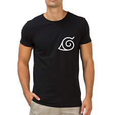 Fanideaz Men's Round Neck Cotton Naruto Black T-Shirt (FMCT0416B)