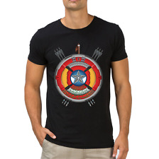 Fanideaz Men's Round Neck Cotton Avengers Sheild Black T-Shirt (FMCT0400B)