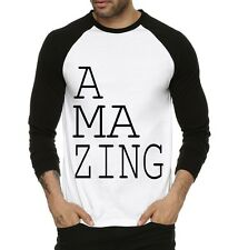 Fanideaz Men's Amazing Innovative Round Neck Raglon Tshirts Black (FMRF5234B)