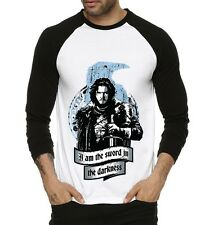 Fanideaz Men Jon Snow Sword Of Darkness GOT Raglan T-Shirt -FMRF5337B