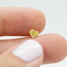 0.52 Carat Heart Shape Yellow VS2 Loose Enhanced Diamond For Engagement Ring