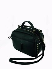 borsa da donna in vera pelle made in italy nuova bag leather borchie tracolla