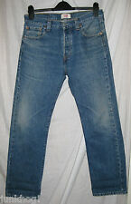 VINTAGE LEVIS 501 RED TAB STRAIGHT LEG BUTTON FLY FADED BLUE JEANS 30 X 30
